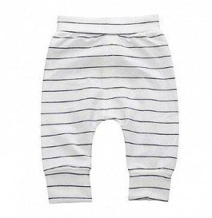 """Детские штаны, принт """"Тонкие черные полосы"""", цвет белый"""