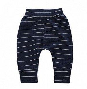 """Детские штаны, принт """"Тонкие белые полосы"""", цвет черный"""