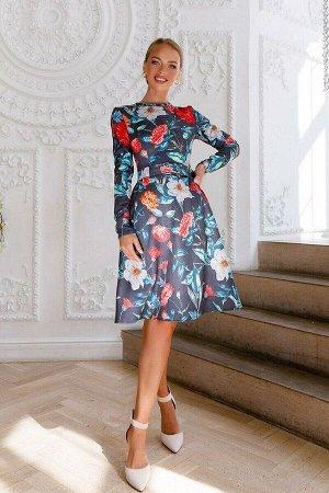 Платье Платье, из плотной замши премиум качества, на трикотажной основе - отличный вариант к наступающей осени! Идеальная посадка за счёт фирменных лекал, длинный рукав поможет сохранить тепло. Округл
