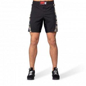 """Шорты Gorilla Wear """"Kensington MMA"""" GW-90947 черно-зеленые"""