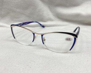 Очки металлические синяя оправа
