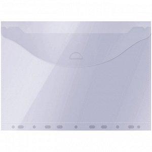 Папка-конверт с перфорацией OfficeSpace, А4, 150мкм, прозрачная