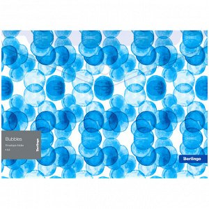 """Папка-конверт на липучке Berlingo """"Bubbles"""", 180мкм, прозрачная, с рисунком"""