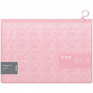 """Папка-конверт на молнии Berlingo """"Starlight S"""", 200мкм, розовая, с рисунком"""
