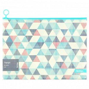 "Папка-конверт на молнии Berlingo ""Triangle"", 180мкм, с рисунком"
