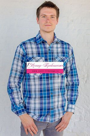 Рубашка мужская - Шотландка №А-1127