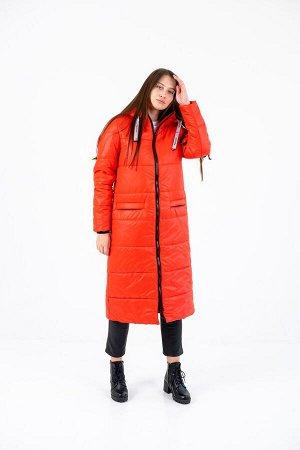 """Пальто зимнее Джой"""" красный"""""""