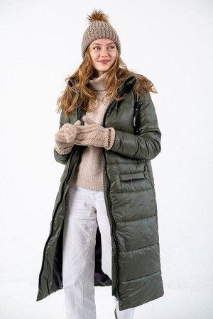 """Пальто зимнее Джой"""" хаки"""""""