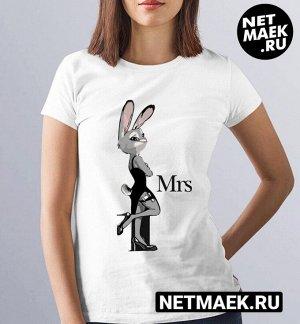 """Женская футболка из комплекта для двоих """"заяц и лис"""" m (44-46)"""