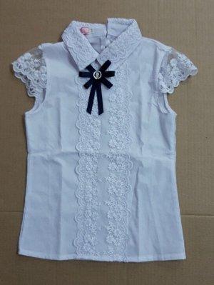 Блузка белая короткий рукав