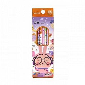 Набор простых карандашей (произвольный выбор) Pink Rabbit Pencil Set