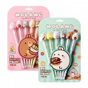 Набор простых карандашей (произвольный выбор) Molang Figure 6 Pencil Set (Random)