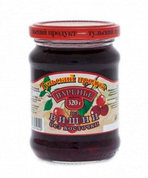 Варенье 320г Вишневое без косточки  с/б 1*12 т.м. Тульский продукт