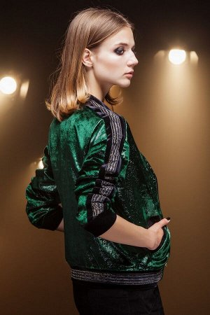 Куртка-бомбер женская Зеленый
