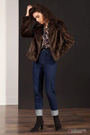 Куртка меховая женская Коричневый