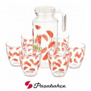 Питьевой набор Pasabahce Jungle / 1 кувшин + 6 стаканов