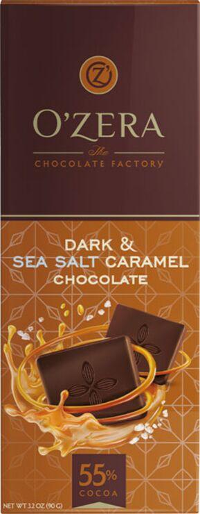 «OZera», горький шоколад Dark&Sea salt caramel, 90г