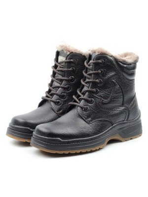 Ботинки зимние мужские (натуральная и искусственная кожа, иск. мех)