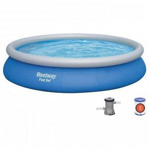 Бассейн надувной Fast Set 457 х 84 см, с фильтр-насосом 57313
