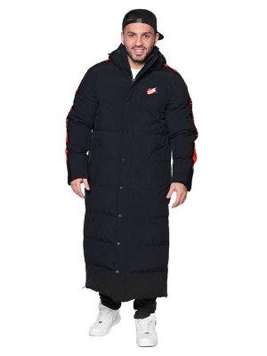 Пальто A-030 Красно-черный