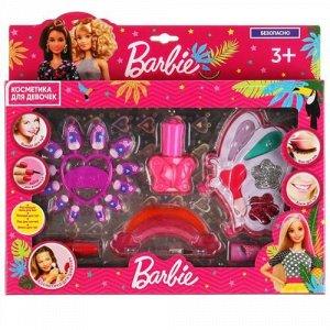 """Косметика для девочек """"Милая леди"""" Барби (тени для век,помада,лак для ногтей,блеск) кор"""