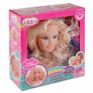 """Кукла-манекен для создания причесок """"Карапуз""""  , 8 аксесс. для волос,кор 24*11*26 см"""