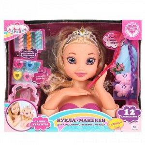 "Кукла-манекен для создания причесок ""Карапуз"" 12  аксесс,кор"