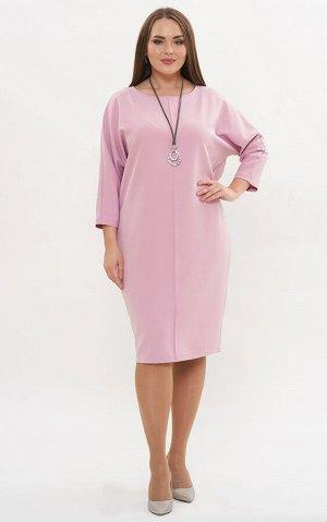 Платье розовый, розовый темный. Осень/Зима Состав: полиэстер 65%, вискоза 30%, лайкра 5% Длина: 101 Описание:Базовое платье прямого кроя с цельнокроеным рукавом. Отлично корректирует фигуру, за счет в