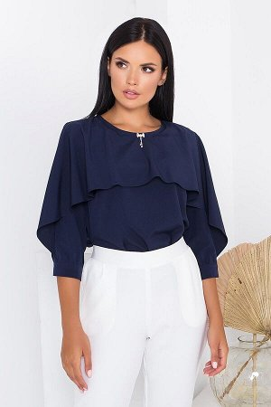 "Блуза ""AZ-163"" (темно синий)"