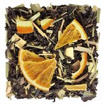 """Чёрный листовой чай """"Апельсин-Лемонграсс"""" 100 г"""