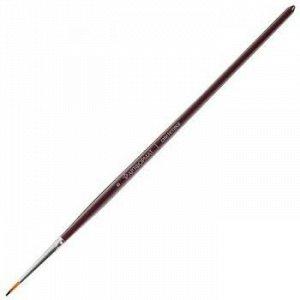 Кисть синтетика художественная № 0 круглая AF15-021-00 длинная ручка, пропитанная лаком ARTформат {Китай}