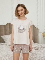 Комплект жен: фуфайка (футболка), шорты Mia Cara
