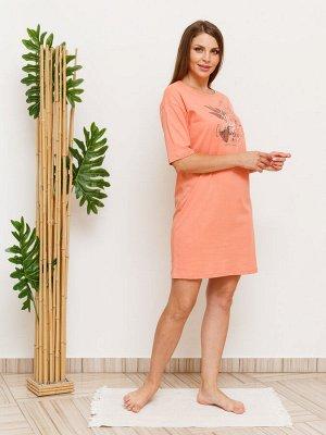 Сорочка Состав Хлопок 100% Сорочка из натурального 100% хлопкового полотна. Спереди растительный принт. Рост модели 174 см. На модели 46 размер.