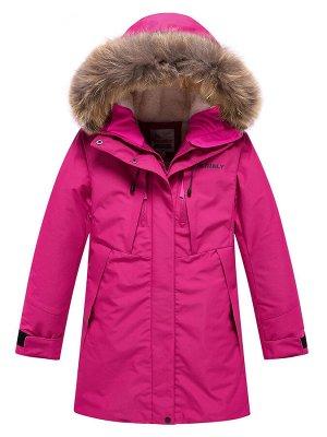 Парка зимняя Valianly для девочки розового цвета 9042R