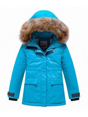 Парка зимняя Valianly для девочки голубого цвета 9034Gl