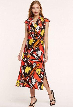 Платье Bazalini 3911 красные тона