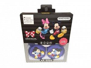 Детские проводные наушники KR-6000 (Микки Маус)
