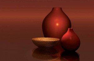 Фотообои Красные вазы