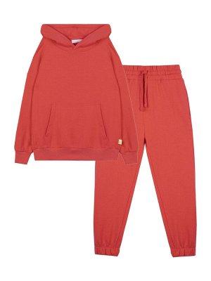 Комплект (джемпер, брюки) для девочки, красный