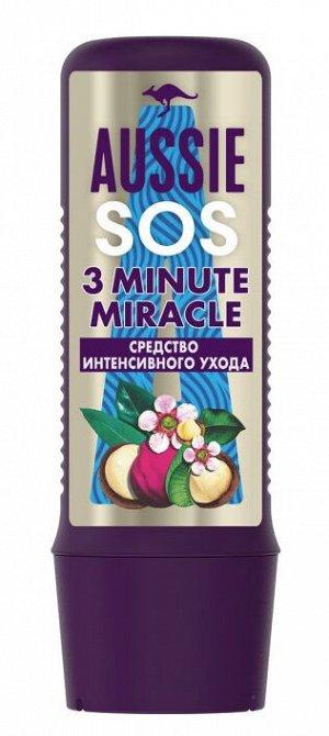 AUSSIE Средство интенсивного ухода SOS 3 Minute Miracle Спасите мои длинные волосы 225мл