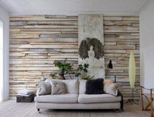 Фотообои Деревянная стена