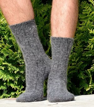 Тонкие мужские пуховые носки