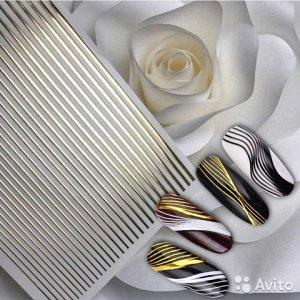 Стикер для дизайна золотые полоски