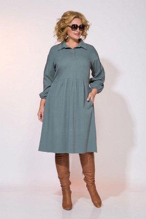 Платье Liliana 979 серозеленый