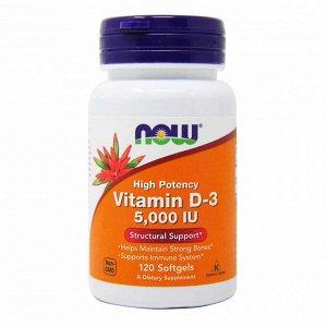 Витамины Now Foods, Витамин D-3, 5000МЕ