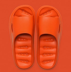 Мужские тапочки, с отверстиями для слива воды, цвет оранжевый