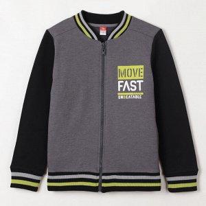 Куртка для мальчика 6266112, серый меланж