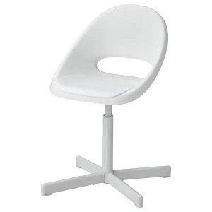 LOBERGET ЛОБЕРГЕТ / SIBBEN СИББЕН Детский стул д/письменного стола, белый
