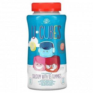 Solgar, U-Cubes, Children's Calcium With D3,  Strawberry, 120 Gummies