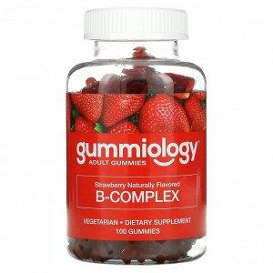Gummiology, комплекс витаминов группыВ, со вкусом клубники, 100жевательных таблеток